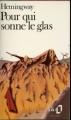 Couverture Pour qui sonne le glas Editions Folio  1983
