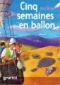 Couverture Cinq semaines en ballon Editions Graffiti (Classique) 2005