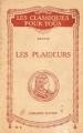 Couverture Les Plaideurs Editions Hatier 1928