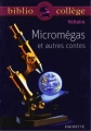Couverture Micromégas Editions Hachette (Biblio collège) 2007