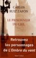 Couverture Le prisonnier du ciel Editions Robert Laffont 2012