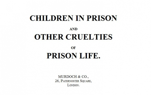 Couverture Children in Prison and Other Cruelties of Prison Life