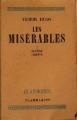 Couverture Les Misérables (4 tomes), tome 1 Editions Flammarion 1947