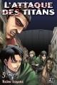 Couverture L'attaque des Titans, tome 05 Editions Pika (Seinen) 2014