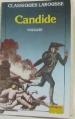 Couverture Candide / Candide ou l'Optimisme Editions Larousse (Classiques) 1988