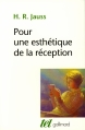 Couverture Pour une esthétique de la réception Editions Gallimard  (Tel) 2013