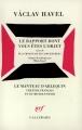 Couverture Le Rapport dont vous êtes l'objet / Plus moyen de se concentrer ! Editions Gallimard  (Le manteau d'Arlequin) 1992