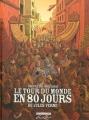 Couverture Le tour du monde en 80 jours (BD, intégrale) Editions Delcourt 2013