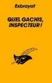 Couverture Quel gâchis, inspecteur ! Editions Le Masque 1963