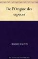 Couverture L'origine des espèces Editions Ebooks libres et gratuits 2010
