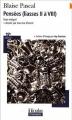 Couverture Pensées Editions Folio  (Plus classiques) 2008