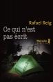 Couverture Ce qui n'est pas écrit Editions Métailié (Noir) 2014