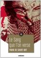 Couverture Le Sang que l'on verse Editions Mnémos (Fantasy) 2013