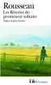 Couverture Rêveries du promeneur solitaire  Editions Folio  (Classique) 2009