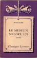 Couverture Le médecin malgré lui Editions Larousse (Classiques) 1948