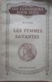 Couverture Les Femmes savantes Editions Hatier (Les Classiques pour tous) 1926