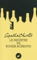 Couverture Le meurtre de Roger Ackroyd Editions du Masque 2013
