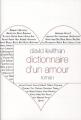 Couverture Dictionnaire d'un amour Editions Grasset 2012