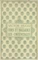 Couverture Odes et Ballades, Les Orientales Editions Nelson 1911