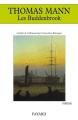 Couverture Les Buddenbrook Editions Fayard 1992