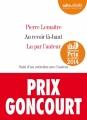 Couverture Au revoir là-haut Editions Audiolib 2014