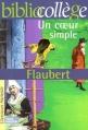 Couverture Un coeur simple Editions Hachette (Biblio collège) 2001