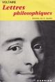 Couverture Lettres philosophiques Editions Garnier (Classiques) 1962