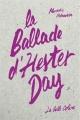 Couverture La Ballade d'Hester Day Editions Anne Carrière 2014