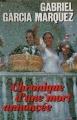 Couverture Chronique d'une mort annoncée Editions France Loisirs 1987