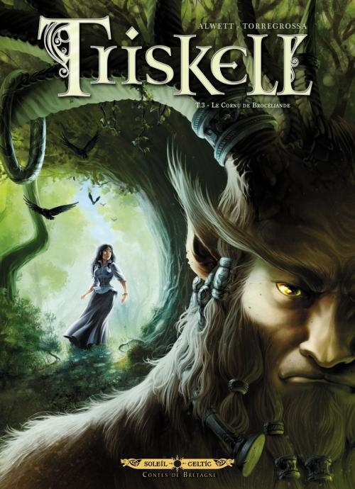 Couverture Triskell, tome 3 : Le cornu de Brocéliande