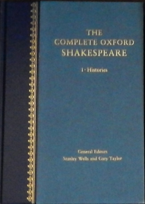 Couverture The Complete Oxford Shakespeare, book 1 : Histories