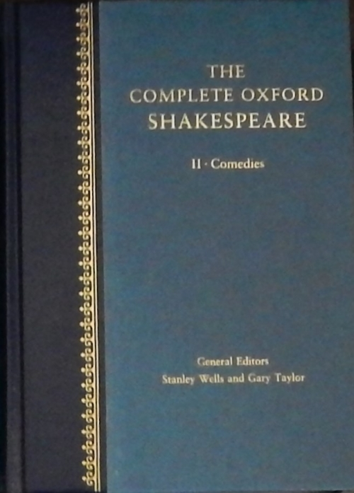 Couverture The Complete Oxford Shakespeare, book 2 : Comedies