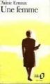 Couverture Une femme Editions Folio  1990