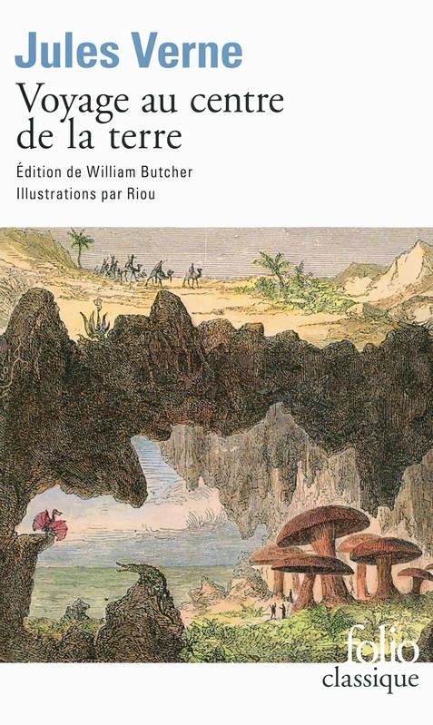 Couverture Voyage au centre de la terre, illustrée (éd. William Butcher)