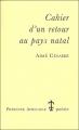 Couverture Cahier d'un retour au pays natal Editions Présence Africaine 2000