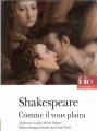Couverture Comme il vous plaira Editions Folio  (Théâtre) 2014