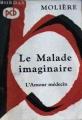Couverture Le malade imaginaire Editions Bordas 1967