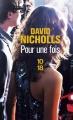 Couverture Pour une fois Editions 10/18 2014