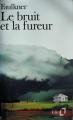 Couverture Le bruit et la fureur Editions Folio  1972