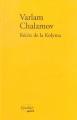 Couverture Récits de la Kolyma Editions Verdier 2003