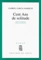 Couverture Cent ans de solitude Editions Seuil 1968