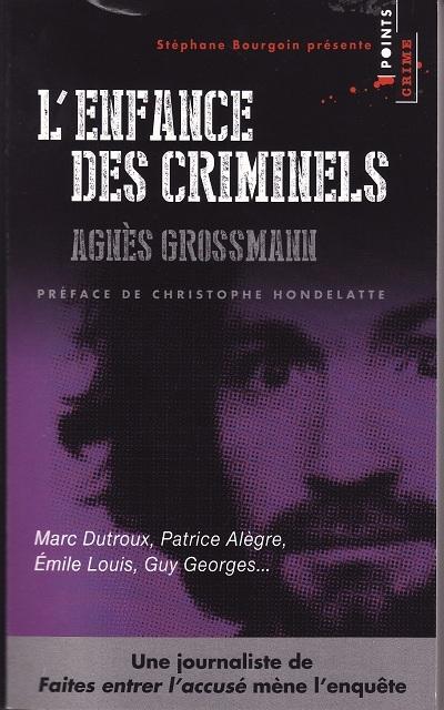 Couverture L'enfance des criminels