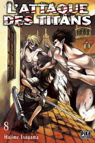 Couverture L'attaque des Titans, tome 08