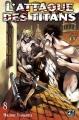 Couverture L'attaque des Titans, tome 08 Editions Pika (Seinen) 2014