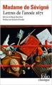 Couverture Lettres de l'année 1671 Editions Folio  (Classique) 2012