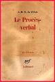 Couverture Le Procès-verbal  Editions Gallimard  (Le chemin) 1963