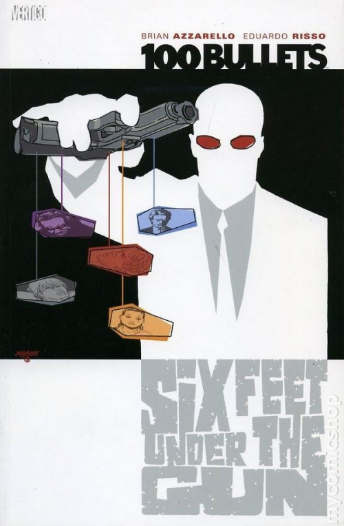 Couverture 100 Bullets (Vertigo), book 06: Six Feet Under The Gun