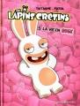 Couverture Les Lapins Crétins, tome 05 : La vie en rose Editions Les Deux Royaumes (Bande Dessinée) 2014