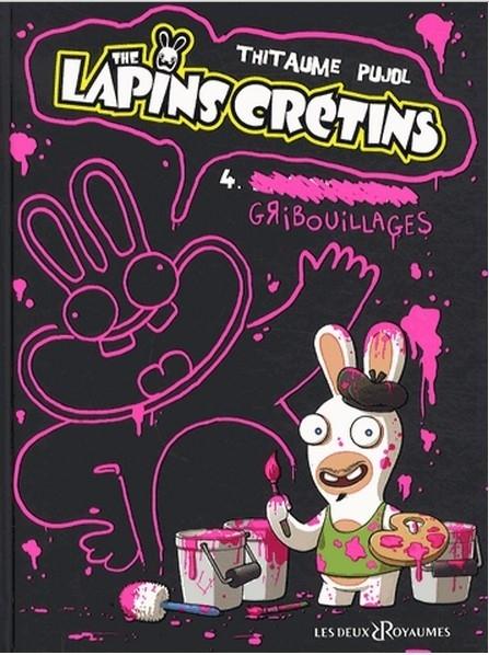 Couverture Les Lapins Crétins, tome 04 : Gribouillages