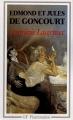 Couverture Germinie Lacerteux Editions Flammarion (GF) 1990
